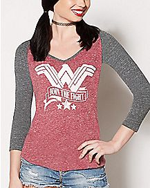 Raglan Wonder Woman T Shirt - DC Comics