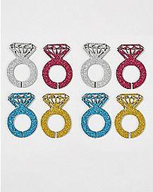 Glitter Diamond Ring Wine Markers