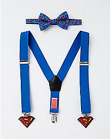 Baby Superman Bowtie and Suspender Set
