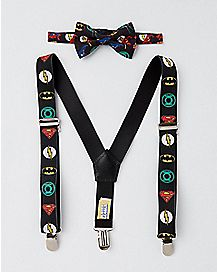 Baby Justice League Bowtie and Suspender Set