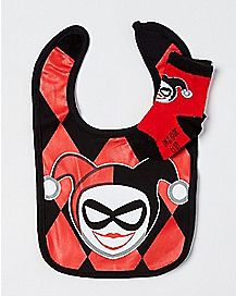Harley Quinn Bib and Socks