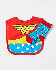 Wonder Woman Bib and Socks - DC Comics