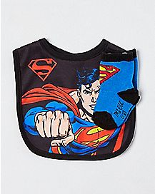 Superman Bib and Socks - DC Comics