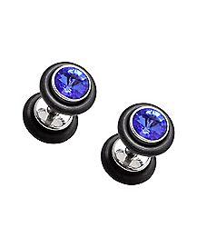 Blue Gem Faux Plugs