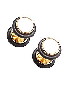 Gold-Toned Faux Plugs