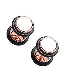 Rose Gold-Toned Faux Plugs