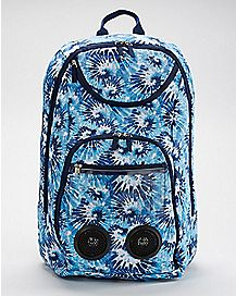 Blue Tie Dye Bluetooth Audio Backpack