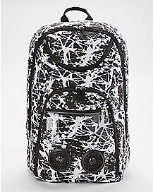 Black and White Splatter Audio Backpack