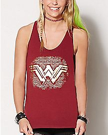 Keyhole Wonder Woman Tank Top - DC Comics