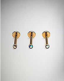 Labret Rings 3 Pack - 16 Gauge
