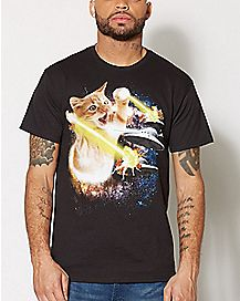 Galaxy Laser Cat T Shirt