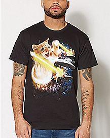 Galaxy Laser Cat T Shirt