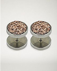 Speckled Faux Plugs