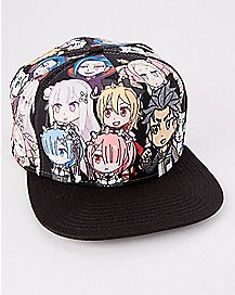 Allover Re:Zero Snapback Hat