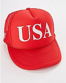 USA 45 Red Trucker Hat