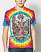 Tie Dye Skeleton Grateful Dead T Shirt
