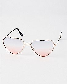 Heart Shape Ombre Americana Sunglasses