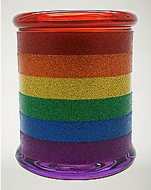 Rainbow Glitter Storage Jar - 14 oz.