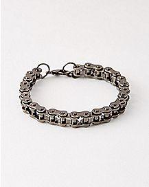 Gunmetal Bicycle Chain Mini Link Bracelet