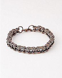 Copper-Tone Bicycle Chain Mini Link Bracelet