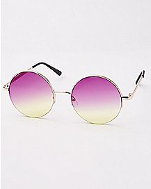 Faded Lense Round Sunglasses