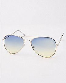 Faded Lense Aviator Sunglasses
