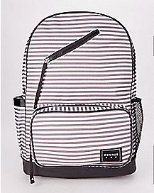 BENRUS Charcoal Stripe Navy Anchor Scout Backpack