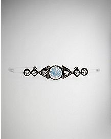 Ornate Cz Faux Industrial Barbell