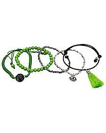 Green Chakra Bracelets - 5 Pack