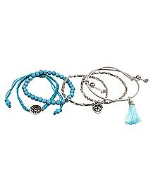 Blue Chakra Bracelets - 5 Pack