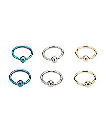 Multi-Pack Captive Rings 3 Pair - 16 Gauge