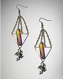 Mystical Dragon Dangle Earrings - 2 Pack