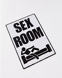 Sex Room Metal Sign