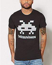 Alien Space Invaders T Shirt - Intellivision