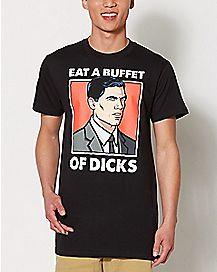 Eat A Buffet of Dicks Archer T Shirt