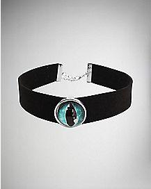 Dragon Eye Velvet Choker Necklace