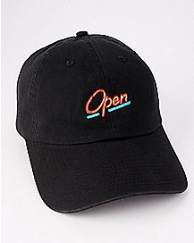 Neon Open Sign Dad Hat