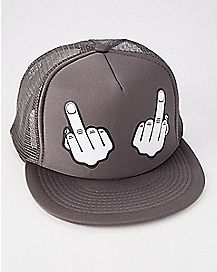 Middle Fingers Trucker Hat