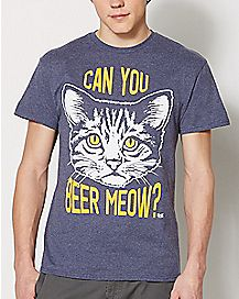 Can You Beer Meow T Shirt