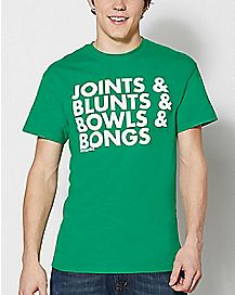 Joints Blunts Bowls Bongs T Shirt