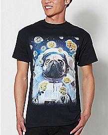Astronaut Pug T Shirt
