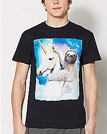 Sloth Unicorn T Shirt