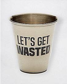 Let's Get Wasted Shot Glass - 1.5 oz.