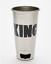 Bottle Opener King Pint Glass