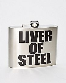Liver of Steel Flask - 32 oz.