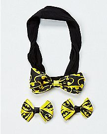 Baby Batman Hair Bow Set - DC Comics