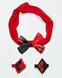 Baby Harley Quinn Hair Bow Set - DC Comics