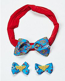 Baby Wonder Woman Hair Bow Set - DC Comics