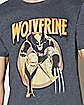 Vintage Wolverine Gray T Shirt - Marvel
