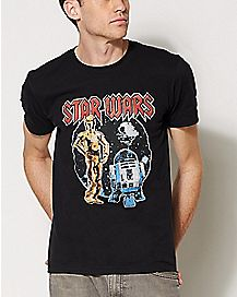 Droids Rock Star Wars T Shirt